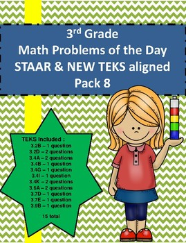Math Word Problems Pack 8 (3rd Grade STAAR) ALIGNED TO NEW TEKS