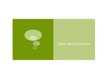 Math Word Problems - Powerpoint