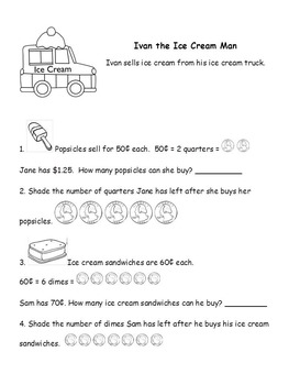 Math Word Problems Printables Pack NO PREP Good Sub Lesson