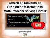 Spanish Math Word Problems / Problemas Matemáticos Escrito
