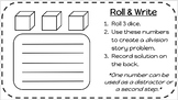 Math Word Problems - Roll & Write