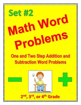 Math Word Problems Set #2: one/two step addition & subtraction