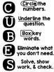 Math Word Problems Strategy: CUBES (Editable)