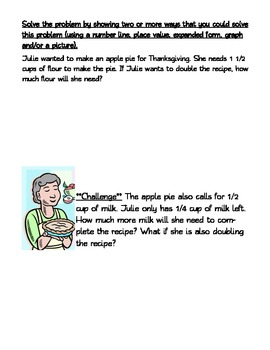 Math Word Problems THANKSGIVING THEMED