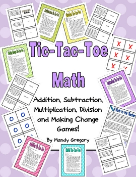 Math Word Problems Tic-Tac-Toe
