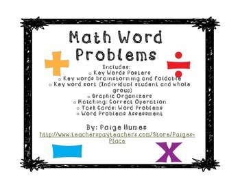 Math Word Problems Unit (Addition, Subtraction, Multiplica