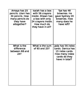 Math Word Problems Worksheet