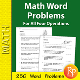 Math Word Problems for All Four Operations