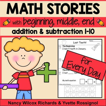 Math Word Problems for Every Day    Addition and Subtraction 1-10  NO PREP