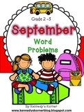 Math Word Problems for September - Grades 2 -3