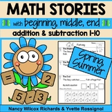 Addition and Subtraction Worksheets for Math Word Problems, Spring and Summer