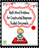 Math Word Problems for Upper Elementary Constructed Respon
