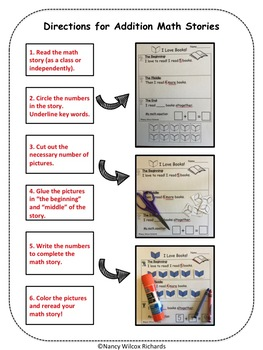 Math Word Problems for Winter  Addition and Subtraction 1-10  NO PREP