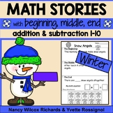 Winter Math Word Problems, Addition and Subtraction, No Prep