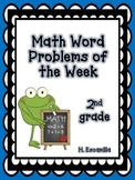 Math Word Problems of the Week - 2nd Grade