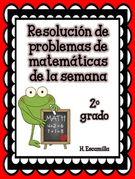 Math Word Problems of the Week for 2nd Grade in Spanish