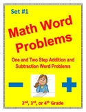 Math Word Problems: one/two step addition & subtraction