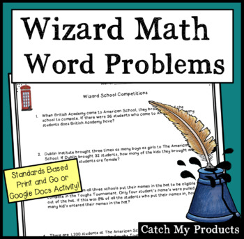 Math Word Problems to Accompany Harry Potter and the Goblet of Fire