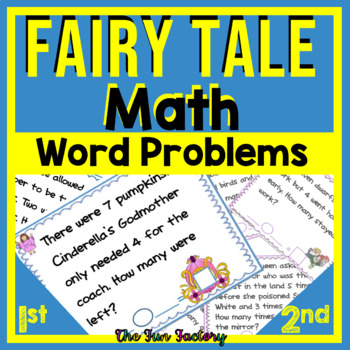 Word Problem Task Cards ~ Addition & Subtraction ~ 1st & 2nd