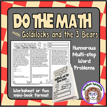 Math Word Problems with Goldilocks and the 3 Bears - Chall