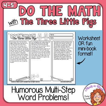 Math Word Problems with The Three Little Pigs - Challengin