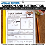 Math Word Problems Addition and Subtraction with Sums Up to 20