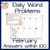 Math Word Problems within 100 for February
