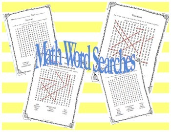Math Word Search BUNDLE PACK