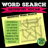 Sub Plans, Math Word Search: Basic Geometry Vocabulary