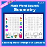 Math Word Search: Geometry (Gr 1)