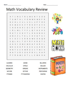 Math Word Search Puzzles: Easy, Medium, and Difficult