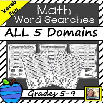 Math Word Search for Grades 5-9