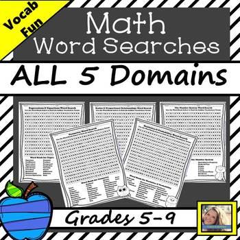Math Words Word Searches Teaching Resources | Teachers Pay Teachers