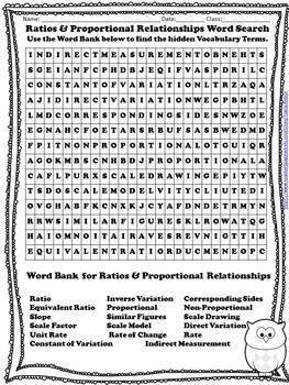 Math Word Search for Grades 5 to 9