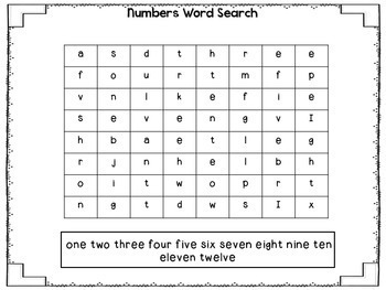 Math Word Searches