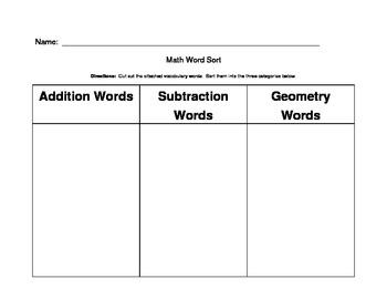 Math Word Sort