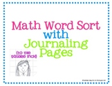 Math Word Sort- Upper Grades