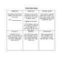 Math Word Study/Vocabulary Center
