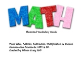 Math Word Vocabulary Cards With Pictures