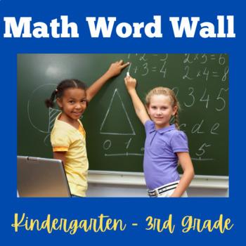 Math Word Wall | Math Words | Math Focus Wall Words