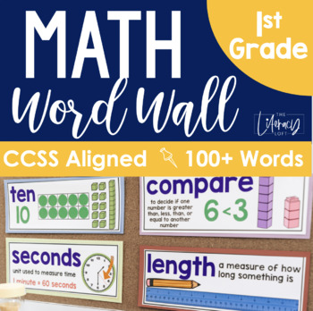 Math Word Wall {1st Grade}