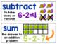 Math Word Wall {1st Grade}