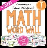 Math Word Wall (1st Grade)