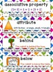 Math Word Wall - 1st Grade - Common Core Aligned - Rainbow