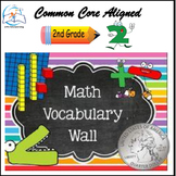 Math Word Wall (2nd Grade) Bundle - 141 Cards