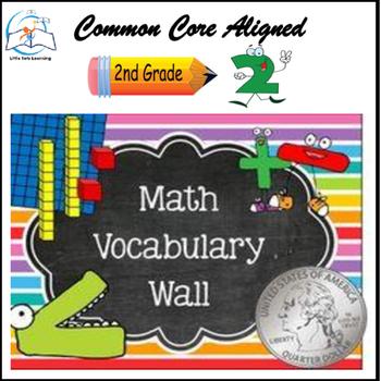 Math Word Wall (2nd Grade) Bundle - 141 Cards