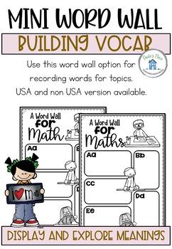 Math Word Wall
