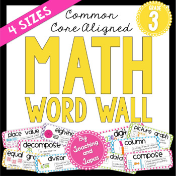 Math Word Wall (3rd Grade) by Alyssha Swanson - Teaching and Tapas
