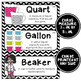 Math Word Wall Cards (3rd Grade - Black & White)