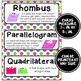Math Word Wall Cards (3rd Grade - Rainbow Colors)